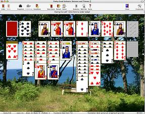Pretty Good Solitaire Mac Edition - solitaire, patience, card games, card, cards, games, klondike, freecell, spider - Play 200 solitaire games for the Mac including Klondike, FreeCell, and Spider