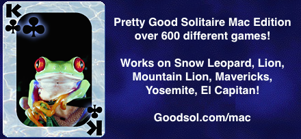 Pretty Good Solitaire works on Yosemite and El Capitan!