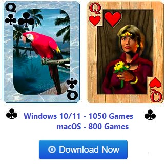 Download Pretty Good Solitaire. Now with 850 games!