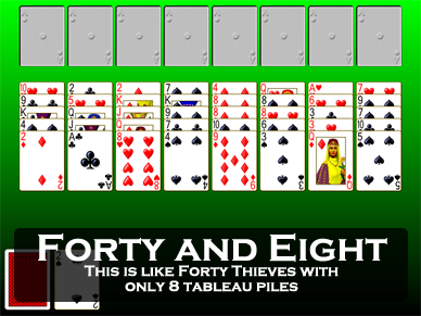 forty thieves solitaire how to play