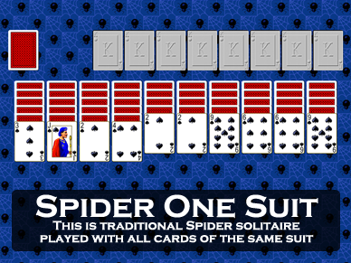 one suit spider solitaire
