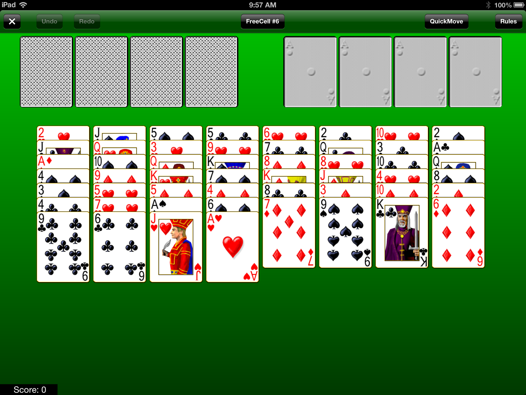 FreeCell Solitaire | Play it online